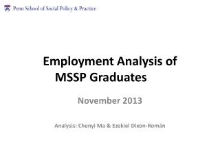 Employment Analysis of MSSP  Graduates