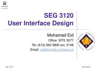 SEG 3120 User Interface Design