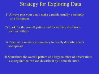 Strategy for Exploring Data
