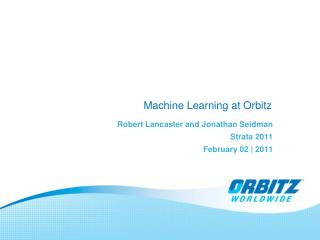 Machine Learning at Orbitz