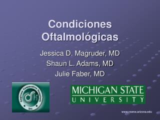 Condiciones Oftalmol gicas