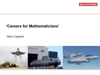 'Careers for Mathematicians'