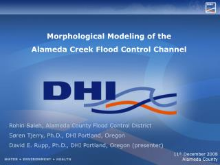 Morphological Modeling of the Alameda Creek Flood Control Channel