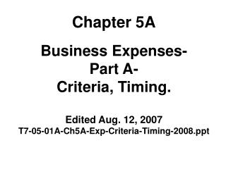 Chapter 5A