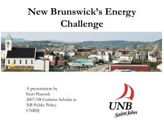 New Brunswick�s Energy Challenge