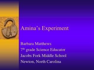 Amina�s Experiment