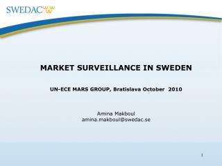 MARKET SURVEILLANCE IN SWEDEN