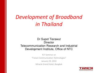 Development of Broadband in Thailand