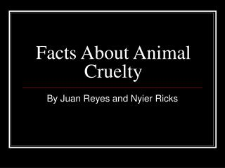 Facts About Animal Cruelty