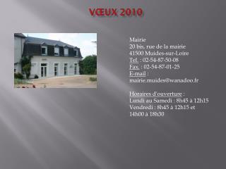 Vœux 2010