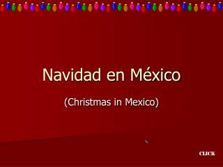 Navidad en M�xico