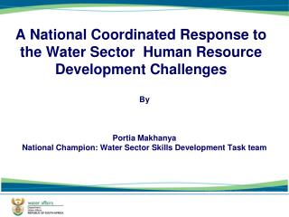 A National Coordinated Response to the Water Sector  Human Resource Development Challenges