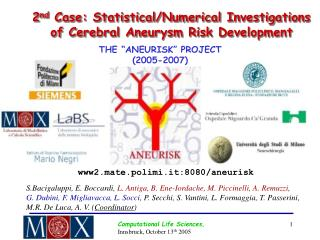 2 nd  Case: Statistical/Numerical Investigations of Cerebral Aneurysm Risk Development