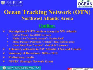 Ocean Tracking Network (OTN) Northwest Atlantic Arena Outline: