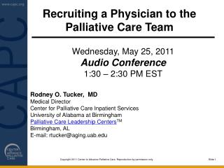 Recruiting a Physician to the Palliative Care Team