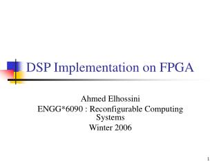 DSP Implementation on FPGA