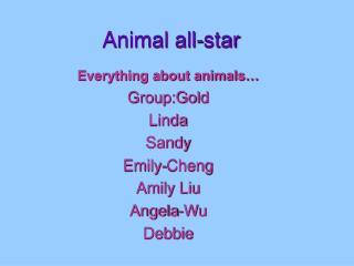 Animal all-star