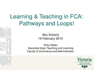 Learning & Teaching in FCA: Pathways and Loops!