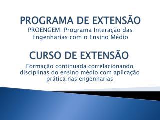 PROGRAMA DE EXTENSÃO