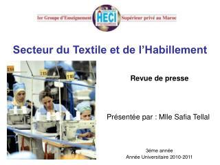 Secteur du Textile et de l'Habillement