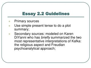 Essay 2.2 Guidelines