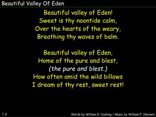 Beautiful Valley Of Eden