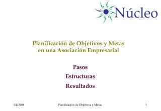 Planificación de Objetivos y Metas  en una Asociación Empresarial