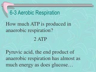 6-3 Aerobic Respiration