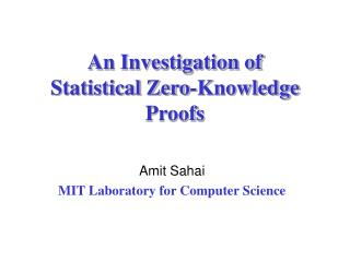 An Investigation of Statistical Zero-Knowledge Proofs