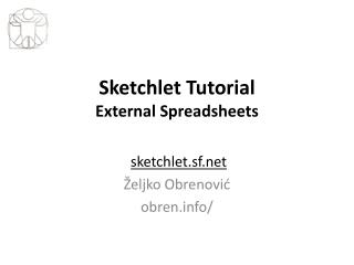 Sketchlet Tutorial External Spreadsheets