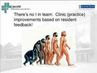 There's no I in team:  Clinic (practice) improvements based on resident feedback!