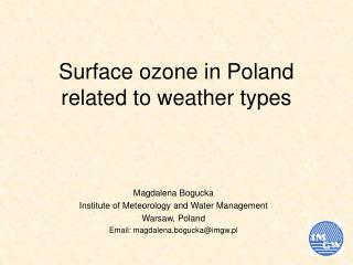 Surface ozone in Poland related to weather types