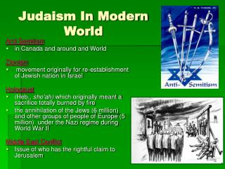 Judaism In Modern World