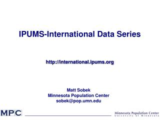 IPUMS-International Data Series international.ipums