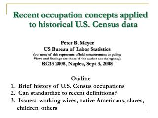 Recent occupation concepts applied to historical U.S. Census data