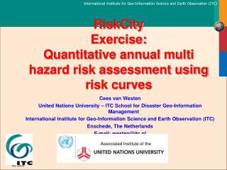 RiskCity Exercise: Quantitative annual multi hazard risk assessment using risk curves