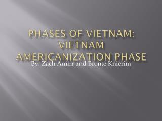 Phases of Vietnam: Vietnam Americanization Phase
