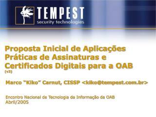 Proposta Inicial de Aplicações Práticas de Assinaturas e Certificados Digitais para a OAB (v3)