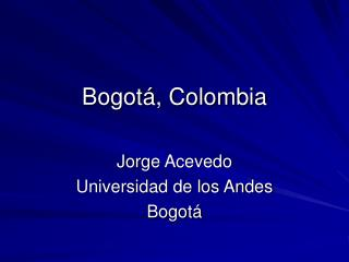 Bogot , Colombia