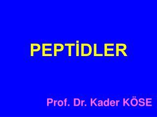 Prof. Dr. Kader KÖSE