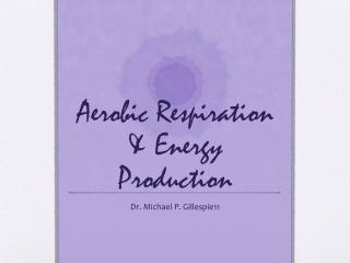 Aerobic Respiration & Energy Production