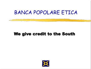 BANCA POPOLARE ETICA