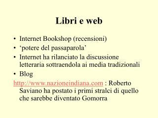 Libri e web