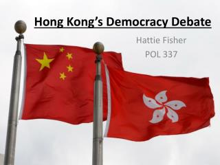 Hong Kong's Democracy Debate