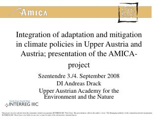 Szentendre 3./4. September 2008 DI Andreas Drack