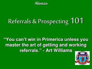 Referrals & Prospecting  101