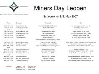 Miners Day Leoben