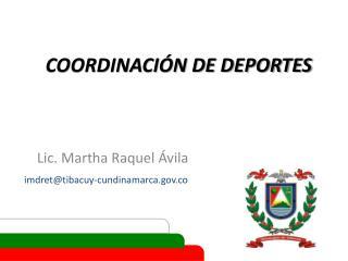 COORDINACIÓN DE DEPORTES
