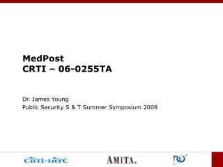 MedPost CRTI – 06-0255TA