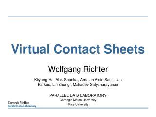Virtual Contact Sheets